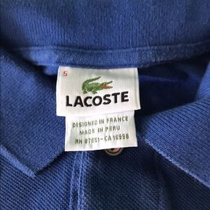 Lacoste Shirts & Tops - Lacoste Boys Blue Polo